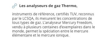 Les analyseurs de gaz Thermo